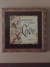 "Home Interiors - ""Love� Print Corinthians 13:13 (wall decor)"