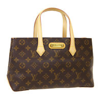 LOUIS VUITTON WILSHIRE PM HAND BAG MI5110 PURSE MONOGRAM CANVAS M45643 R11889