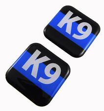 "K9 Police k-9 unit flag Square Domed Decal car bike gel stickers 1.5"" 2pc"
