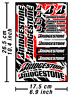 Bridgestone Reifen Aufkleber Aufkleber Vinyl Grafiken Aufkleber Adesivi / 622