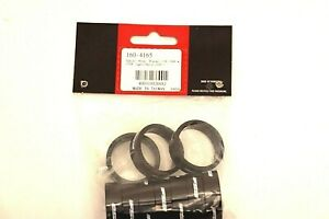 """FSA 160-4165 10mm x 1-1/8"""" Alloy Bicycle Headset Spacers Black with Logo 10-Pack"""