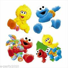 SESAME STREET 1st Birthday WALL DECORATIONS (4) ~ First Party Supplies Elmo Baby