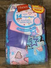 Hanes ~ Girls Hipster Tagless 14-Pair Underwear No Ride Up Multi-Color ~ Size 16