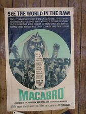 "1966 ""MACABRO"" POSTER mondo film horror shockumentary psychotronic video nasty"