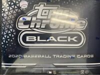 2020 TOPPS CHROME BLACK BASEBALL FACTORY SEALED HOBBY BOX - Ships Today! 📈