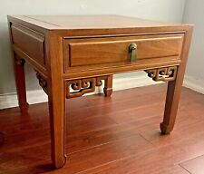 Vintage Ming Style Mid Century Chinese Rosewood  One Drawer Side/End Table