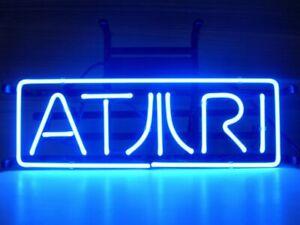 "14""x5""Atari Neon Sign Light Room Wall Hanging Man Cave Nightlight Visual Artwork"