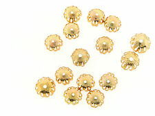 Vintage M. Haskell Gold MIxed Rosette & Scalloped Style Umbrella Bead Cap Lot