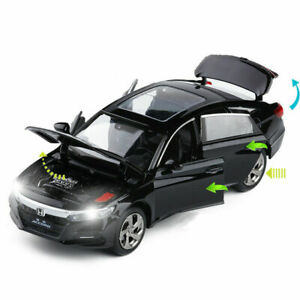 1:32 Honda Accord Alloy Diecast Model Car Toy Collection Sound&Light Gift Black