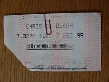 07/12/1999 billet de concert: Chris de Burgh, à Birmingham [at NEC Arena] (plié)