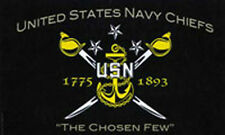 5' x 3' US Navy Chiefs Flag USA United States Naval American Military Banner