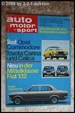 AMS Auto Motor Sport 11/72 Toyota Celica Opel Commodore GS Fiat 132