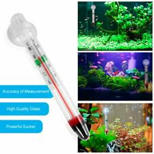 Glass Meter Aquarium Fish Tank Water Temperature Thermometer With Suction Cup Kw