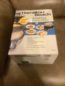 HAMILTON BEACH BREAKFAST BURRITO MAKER (25495) - NEW