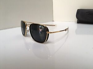 Randolph Engineering USA Sunglasses Gold Frame With Black Lens 55 VGC Awesome