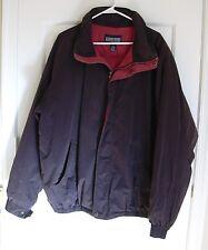 Lands End Mens Goose Down Jacket Charcoal Gray Black Tall L Puffer Coat Vintage