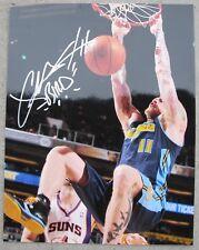 "CHRIS ""BIRDMAN"" ANDERSEN Denver Nuggets #11 Signed 11x14 Photo - Autographed COA"