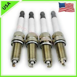 4pcs New 22401-ED815 LZKAR6AP11 Iridium Spark Plugs For Nissan March Micra Tiida