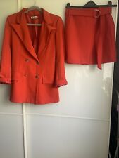Red Co Ord Set Skirt And Blazer Size Small