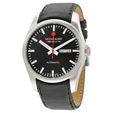 Mondaine Automatic Black Dial Black Leather Watch A1323034514SBB