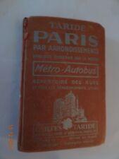 PLANS DE PARIS TARIDE PAR ARRONDISSEMENTS 1957 ?