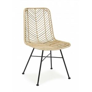 Chair Lorraine Natural Or Black, Packaging 2 Pieces