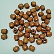Vintage Wood Macrame Beads Lot of 50 brown