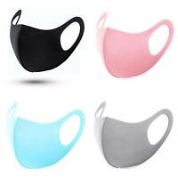 Mundschutz Behelf-Mund-Nasen-Atem-Schutz Maske Waschbar Schwarz Pink Blau Grau