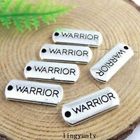 40pcs Vintage Silver Alloy WARRIOR Charms Pendant Crafts Jewelry Findings 51411