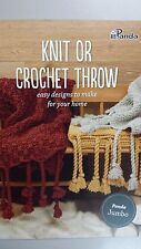 Panda Pattern Book #809 Knit or Crochet Throw - Easy Designs to Make for Home