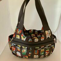Rare LeSportsac Russian Dolls Shoulder Bag Brown Tote - Hard to find - Unique!