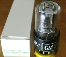 GM DELCO 6SN7-GTA Vacuum Tube, BLACK PLATE, Tests extremely strong 3200/3000!
