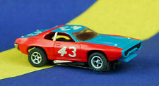 Vintage 1970s Aurora AFX #43 Petty Plymouth Roadrunner Slot Car Red & Blue