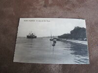 Early Egypt postcard -Shipping interest -  Port-Tewfik view of canal - Suez