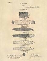 Cigar Rolling Tobacco Vintage US Patent Art Print - Antique Cigar Art-  705