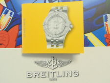 BREITLING PILOT'S DIVER'S WATCH INSTRUCTION MANUAL BOOK GUIDE BOOKLET STARLINER