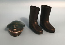 Vintage 1970s Action Man - German Stormtrooper Officer Hat and Boots