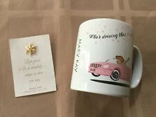 Mary Kay 'Who's Driving That Pink Cadillac?' Coffee Tea Cup Mug White / Pink Mk