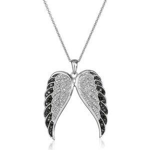 Womens Angel's Wings Rhinestone Crystal Pendant Necklace Wedding Engagement Gift
