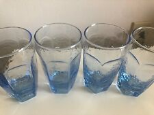 Libbey Rock Sharpe Textured CHIVALRY BLUE Tumbler/ Glasses 12 oz.