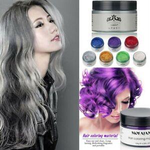 Mofajang Hair Color Wax Mud Dye Styling Cream DIY Coloring 7 Colors Unisex Hot