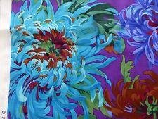 KAFFE FASSETT Fabric Fat Quarter Cotton Quilting Craft Shaggy Blue Chrysanthemum