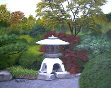 """""""Shaw's Japanese Garden"""" original oil on stretched canvas, 16 x 20"""""""