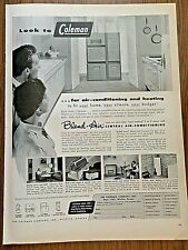 1955 Coleman Ad Blend-Air Central Air Conditioning Heating