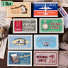 Retro Stamp Journal Stickers Scrapbook Label Diary Stationery Matchbox Stickers