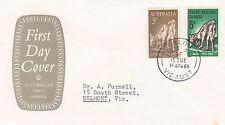 Stamp Cocos Island 5d ANZAC & Australian 5d issue on P.O grey emblem cachet FDC