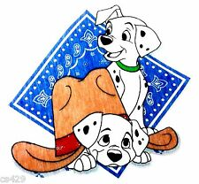 "9.5"" DISNEY DALMATIANS DOG FABRIC APPLIQUE IRON ON CHARACTER"