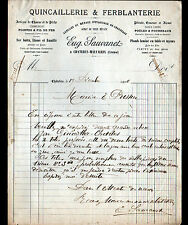 "CHATELUS-MALVALEIX (23) QUINCAILLERIE FERBLANTERIE ""Eug. SAUVANET"" en 1906"