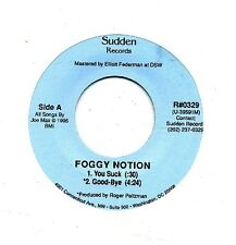 Foggy Notion 45 You Suck - Obscure Punk Indie - HEAR