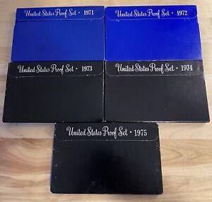 (1) 1970-1979 US Proof Set Estate Sale Lot With Boxes COA US Coins Proof Sets